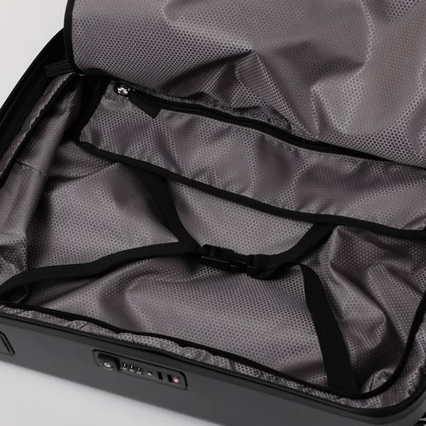 モンブラン MONTBLANC フロントポケット付 キャビン トローリー 4輪 キャリー スーツケース ブラック 37L(3〜4泊向け) [メンズ] 118728|bjkyoto|07
