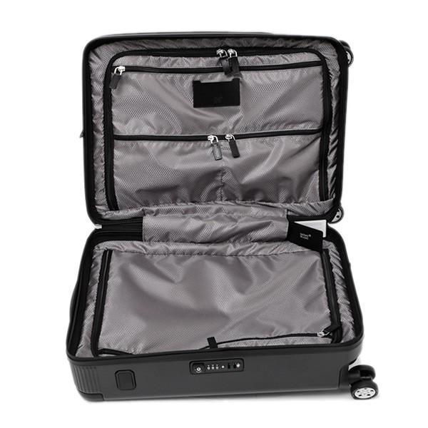 モンブラン MONTBLANC フロントポケット付 キャビン トローリー 4輪 キャリー スーツケース ブラック 37L(3〜4泊向け) [メンズ] 118728|bjkyoto|08