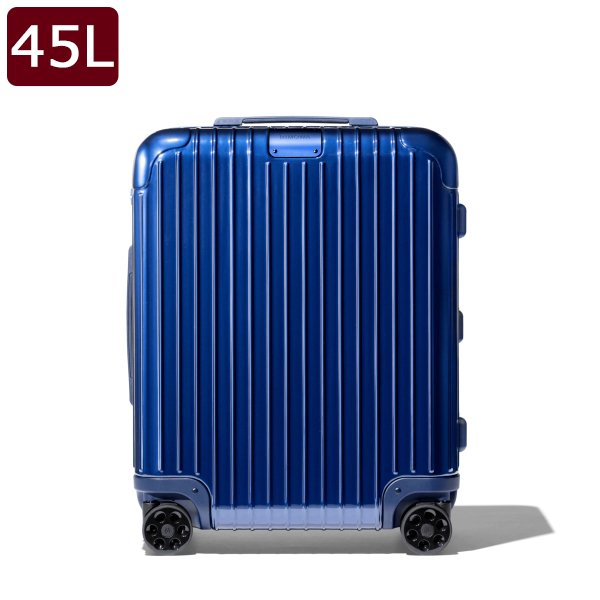 リモワ RIMOWA エッセンシャル キャビン プラス Cabin Plus 4輪 スーツケース グロスブルー 45L(3〜4泊向け) [メンズ][レディース] 83256604 BLUE GLOSS