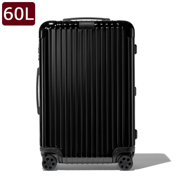 リモワ RIMOWA エッセンシャル チェックイン ESSENTIAL Check-In M キャリーオン 4輪 スーツケース グロスブラック 60L(5泊程度) 83263624 BLACK GLOSS
