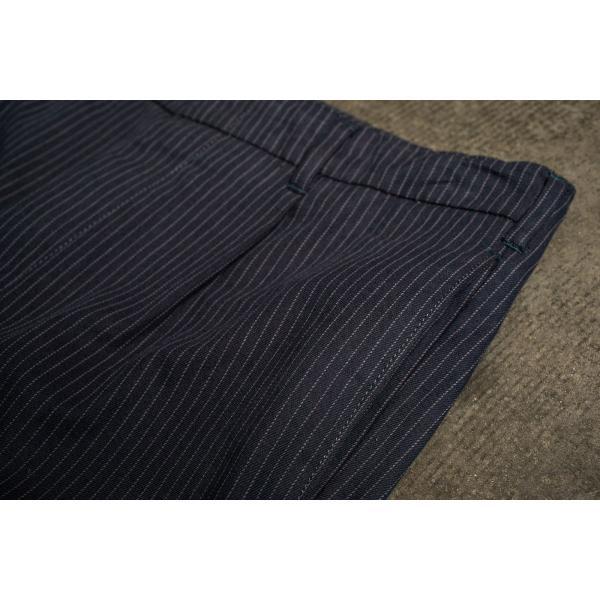 ブリクストン レジェント トラウザーパンツ Brixton REGENT TROUSER PANT #04081 ネイビーストライプ スラックス リラックスフィット [正規品]|bk2bk|03