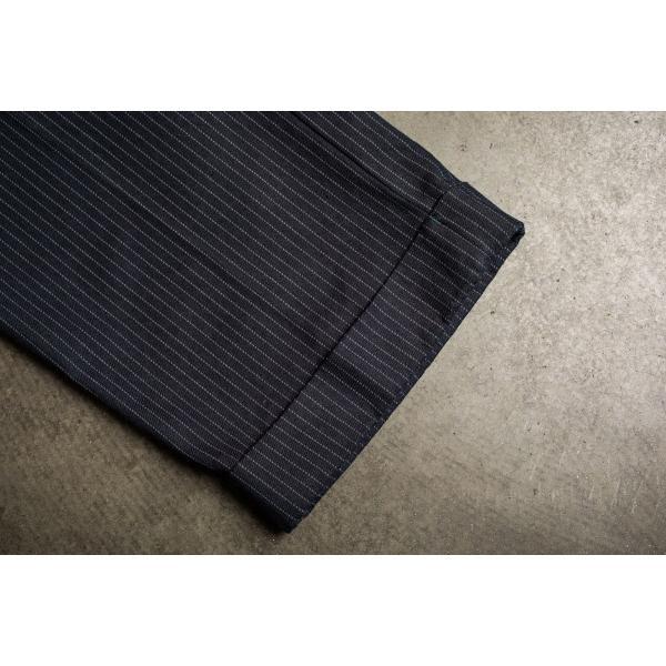 ブリクストン レジェント トラウザーパンツ Brixton REGENT TROUSER PANT #04081 ネイビーストライプ スラックス リラックスフィット [正規品]|bk2bk|05