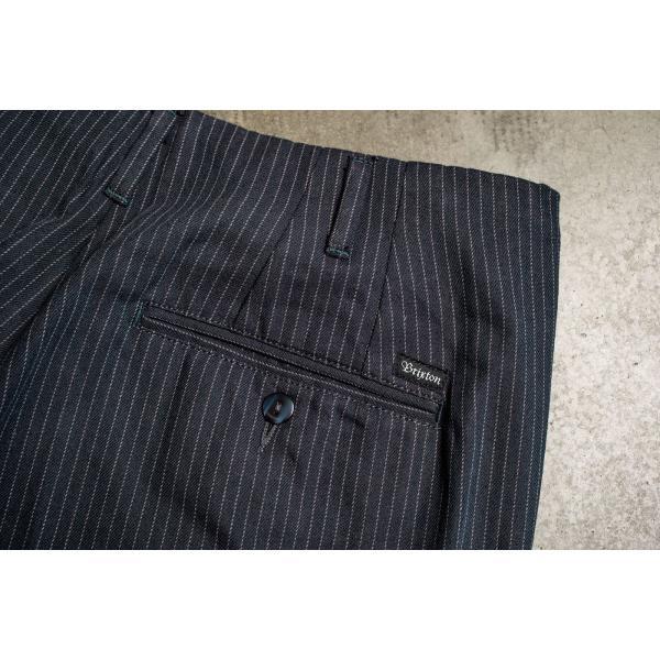 ブリクストン レジェント トラウザーパンツ Brixton REGENT TROUSER PANT #04081 ネイビーストライプ スラックス リラックスフィット [正規品]|bk2bk|06