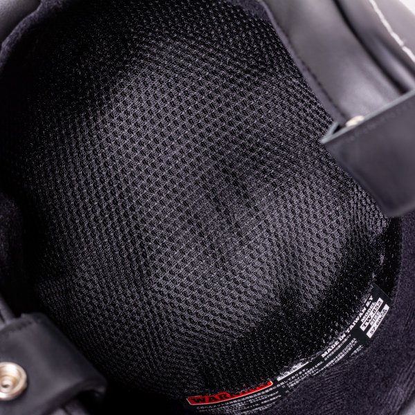 SIRANO BROS. MOTORCYCLE EQUIPMENT - 3/4 OPEN FACE MOTORCYCLE HELMET, Plain model ブラック シラノブロス|bk2bk|11