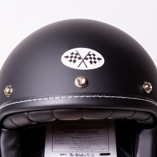 SIRANO BROS. MOTORCYCLE EQUIPMENT - 3/4 OPEN FACE MOTORCYCLE HELMET, Plain model ブラック シラノブロス|bk2bk|03