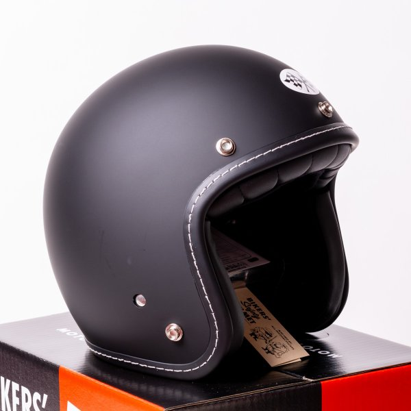 SIRANO BROS. MOTORCYCLE EQUIPMENT - 3/4 OPEN FACE MOTORCYCLE HELMET, Plain model ブラック シラノブロス|bk2bk|04