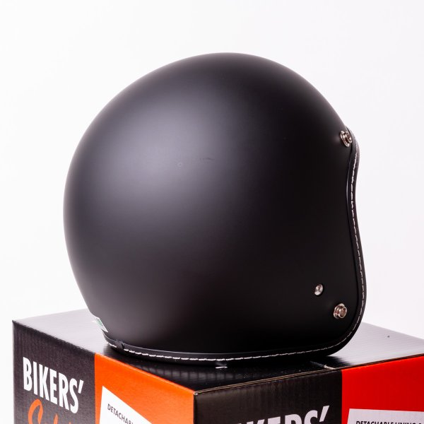 SIRANO BROS. MOTORCYCLE EQUIPMENT - 3/4 OPEN FACE MOTORCYCLE HELMET, Plain model ブラック シラノブロス|bk2bk|05