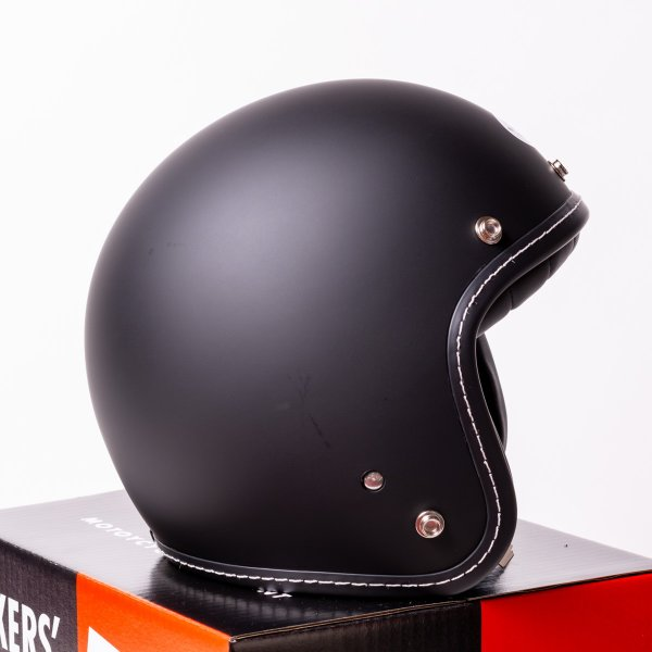 SIRANO BROS. MOTORCYCLE EQUIPMENT - 3/4 OPEN FACE MOTORCYCLE HELMET, Plain model ブラック シラノブロス|bk2bk|06