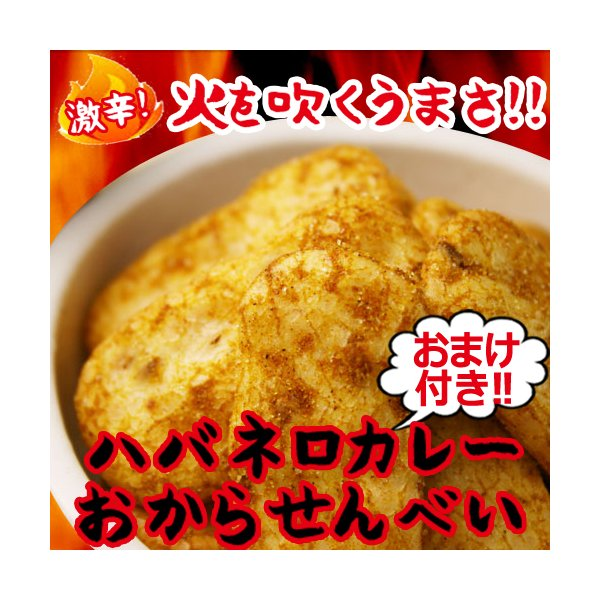 低カロリー ハバネロカレー おからせんべい ダイエット食品 ハバネロ カレー おから煎餅 送料無料 325094