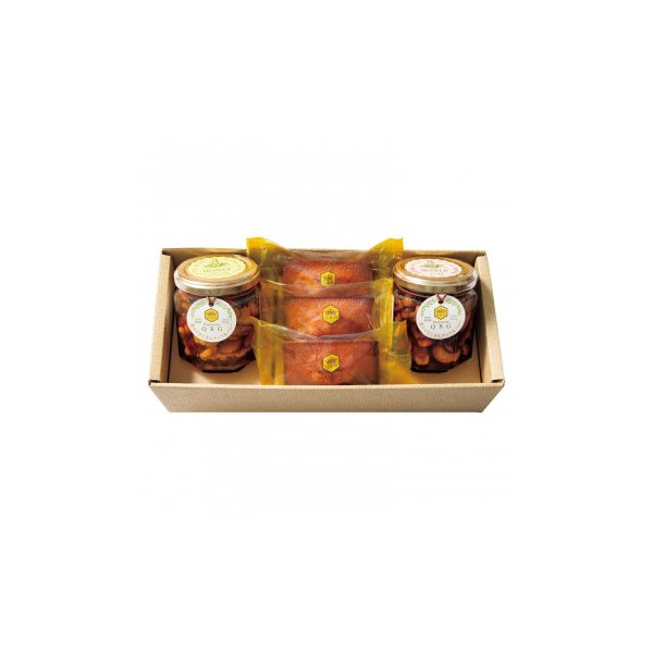 パティスリーQBG 森のぐだくさんナッツのはちみつ・メープル漬け&フィナンシェB 90007-06