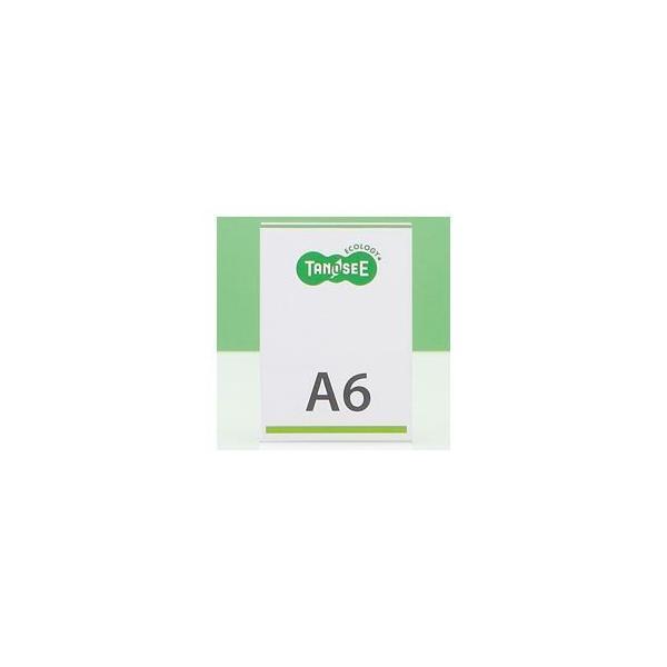 (まとめ) TANOSEE 再生PETサインスタンド 片面用 A6タテ 1個 〔×15セット〕