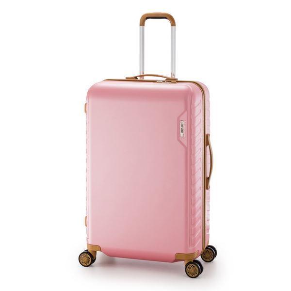 スーツケース/キャリーバッグ 〔ピンク〕 90L 手荷物預け無料最大サイズ ダイヤル式 アジア・ラゲージ 『MAX SMART』