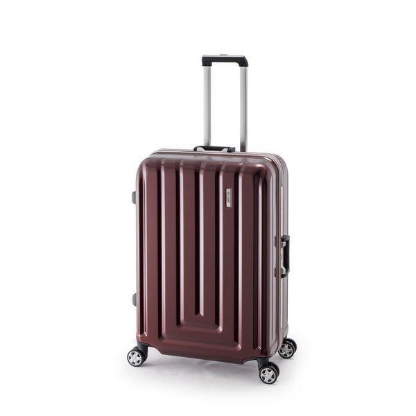 スーツケース/キャリーバッグ 〔カーボンレッド〕 82L ダイヤル式 TSAロック アジア・ラゲージ 『MAX SMART』