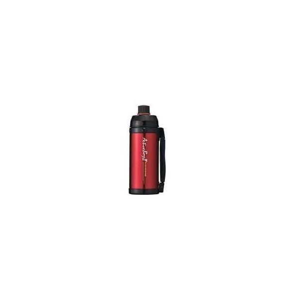 魔法瓶構造 スポーツボトル/水筒 〔保冷専用 レッド〕 1L 直飲みタイプ ハンドル付き 『アクティブボーイ2』