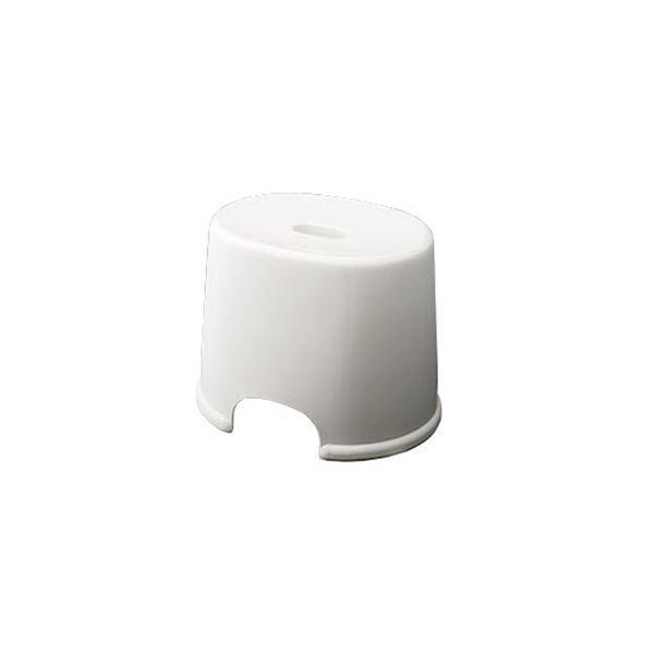 シンプル バスチェア/風呂椅子 〔250 ホワイト〕 すべり止め付き 材質:PP 『HOME&HOME』〔代引不可〕