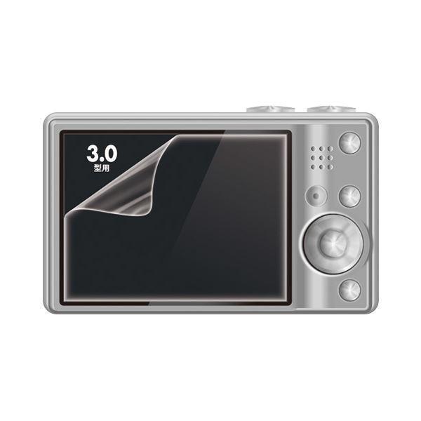 (まとめ)サンワサプライ 液晶保護光沢フィルム3.0型 DG-LCK30 1枚〔×10セット〕