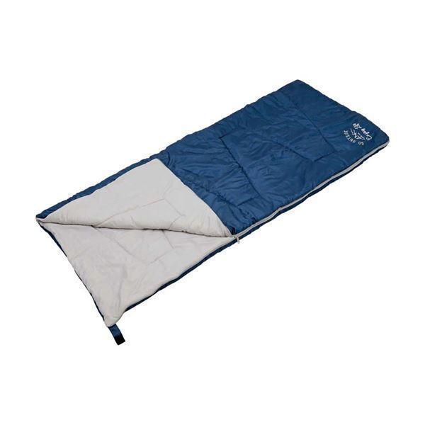 〔キャプテンスタッグ〕 クッションシュラフ/寝袋 〔ネイビー〕 幅80cm 洗える 連結可 自然開放防止 『モンテ』 〔アウトドア〕