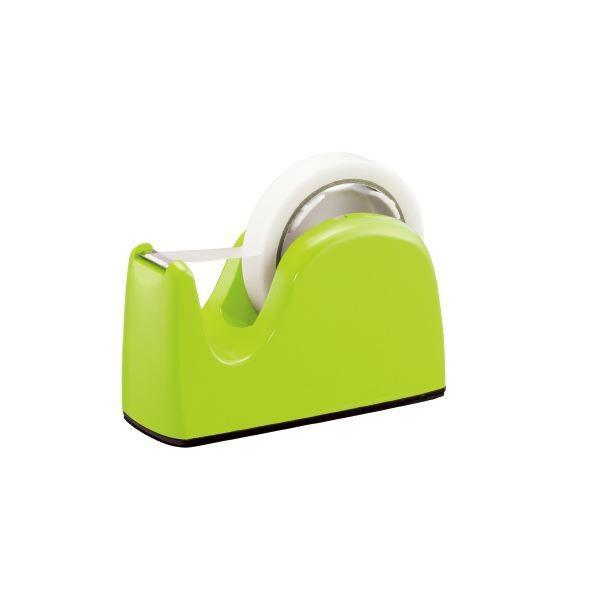 (まとめ)プラス テープカッター TC-301 ライトグリーン 5台〔×10セット〕