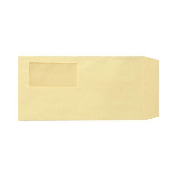 (まとめ)TANOSEE 窓付封筒 長3 70g/m2 クラフト 業務用パック 1箱(1000枚)〔×3セット〕