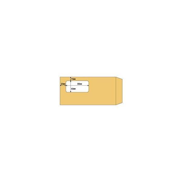 (まとめ) ヒサゴ 窓つき封筒 A4三ツ折用クラフト紙 MF17 1箱(100枚) 〔×10セット〕