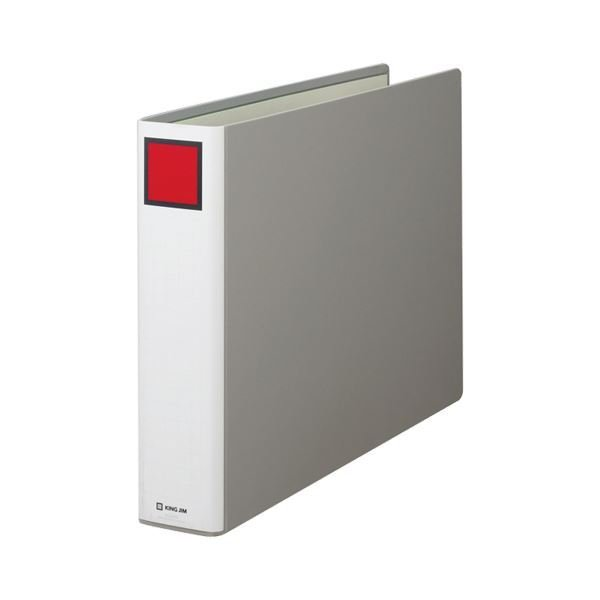 (まとめ) キングファイル スーパードッチ A3ヨコ 600枚収容 背幅76mm グレー 1506E 1冊 〔×10セット〕