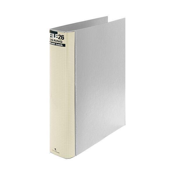 (まとめ) マルマン ダブロックファイル B5タテ 26穴 250枚収容 背幅44mm グレー F679R-11 1冊 〔×10セット〕