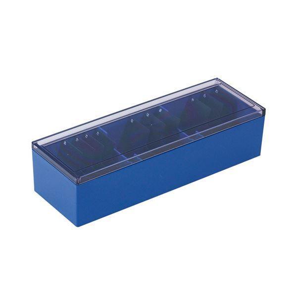 (まとめ) キングジム 名刺整理箱 約1000枚収納青 75 1個 〔×10セット〕