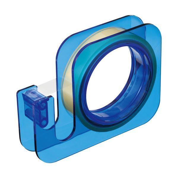 (まとめ) ニチバン セロテープ 大巻ハンドカッター 18mm×20m ブルー TC-18E4 1個 〔×30セット〕
