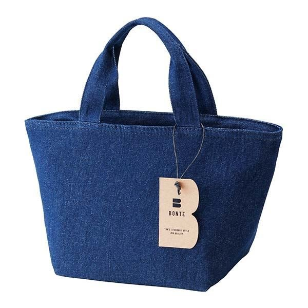 (まとめ) クールランチバッグ/お弁当袋 〔トート型〕 デニム生地 保冷バッグ 『BONTE』 〔120個セット〕