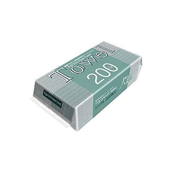 業務用 再生紙エコペーパータオル 〔中判サイズ 200枚入〕 1枚あたりサイズ約225×220mm 清掃用 掃除用 〔30個セット〕