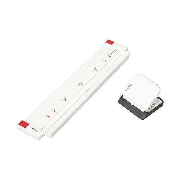 (まとめ)カール事務器 ゲージパンチ ホワイト GP-2630-W 1台〔×2セット〕