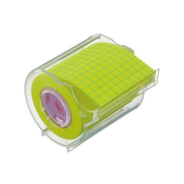 (まとめ) ヤマト メモックロールテープ 本体(蛍光紙/ノートタイプ) 方眼 〔×10セット〕