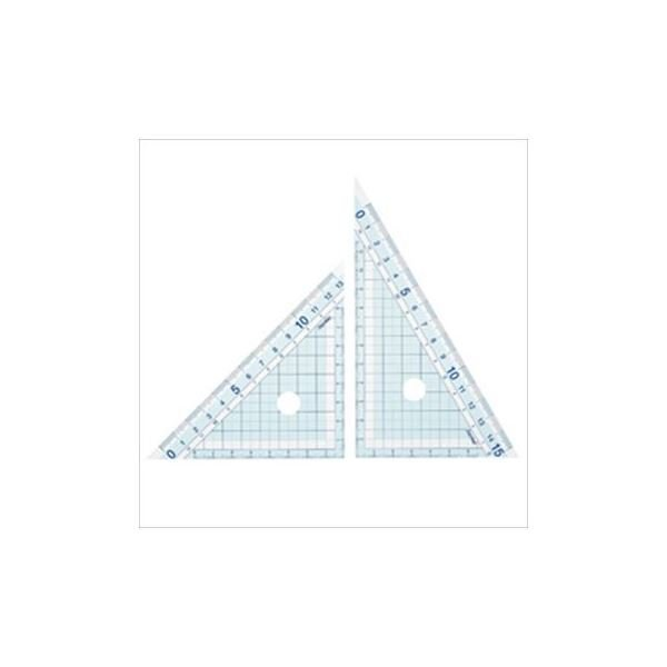 (まとめ)レイメイ 先生おすすめ三角定規 大 1セット(2枚)〔×10セット〕
