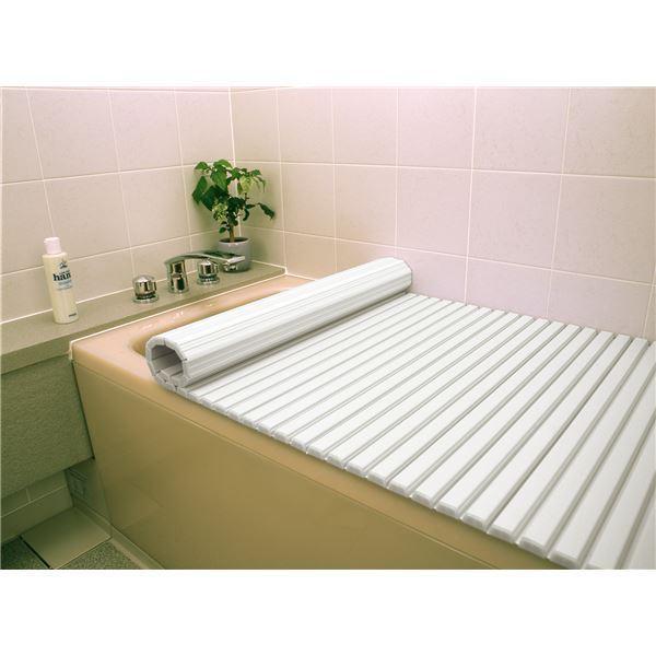 〔6個セット〕 シャッター式風呂ふた/巻きフタ 〔80cm×160cm用〕 ホワイト SGマーク認定 日本製