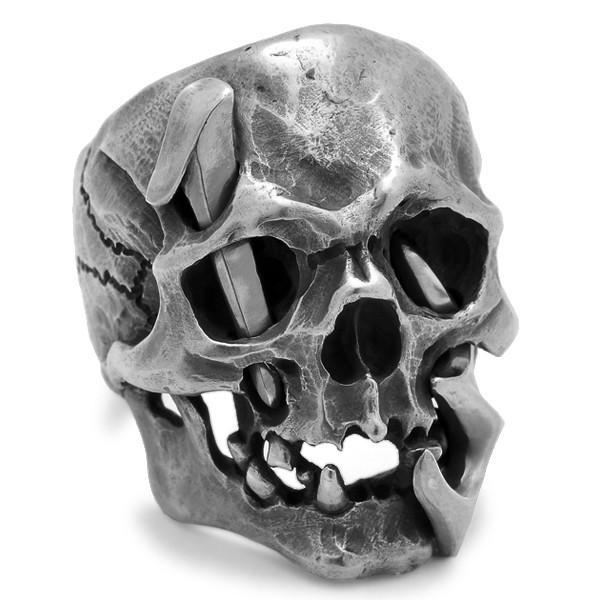 MAD CULT / マッドカルト 13 Skull Head 1 / 13スカルヘッド 1 スカルリング MC13-1 シルバー|blackbarts|02