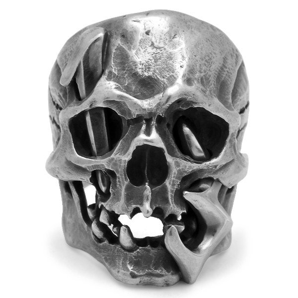 MAD CULT / マッドカルト 13 Skull Head 1 / 13スカルヘッド 1 スカルリング MC13-1 シルバー|blackbarts|03