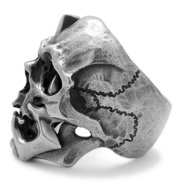 MAD CULT / マッドカルト 13 Skull Head 1 / 13スカルヘッド 1 スカルリング MC13-1 シルバー|blackbarts|05