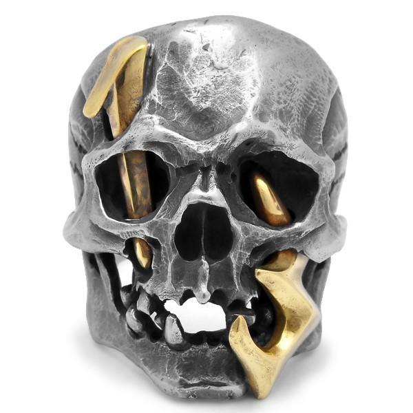MAD CULT / マッドカルト 13 Skull Head 2 / 13スカルヘッド 2 スカルリング MC13-2 ブラス|blackbarts|03