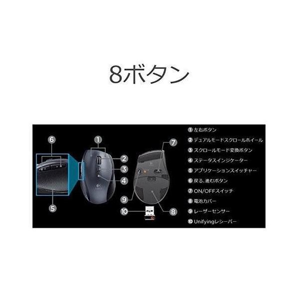 Logicool ロジクール ワイヤレスマラソンマウス M705t|blackmacerstore|06