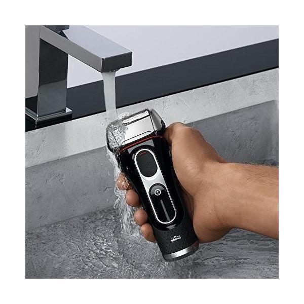 ブラウン シリーズ5 メンズ電気シェーバー 3枚刃 5030s 丸ごと水洗い可|blackmacerstore|05