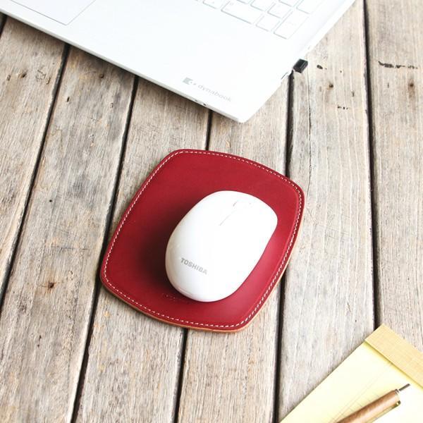 マウスパッド 革 スリム ミニ / 本革 8色  PCアクセサリー 光学式 マウス メンズ レディース シンプル 名入れ / 誕生日 プレゼント おすすめ blanc-couture 07