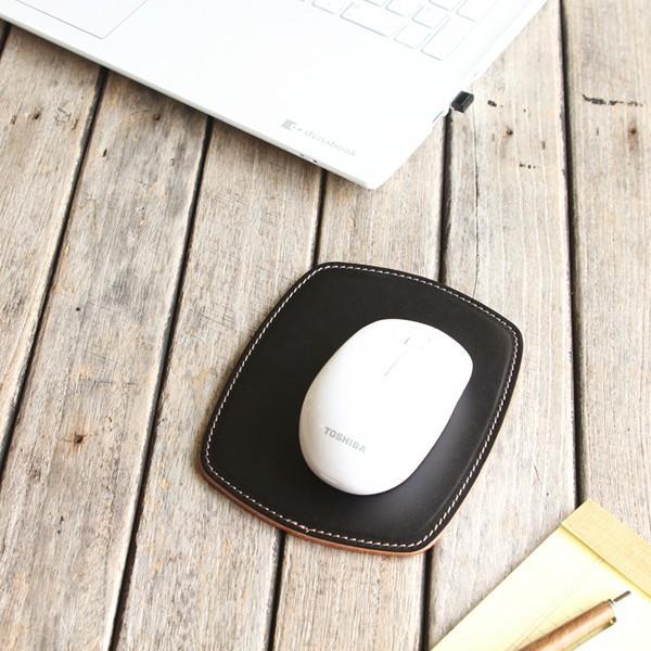 マウスパッド 革 スリム ミニ / 本革 8色  PCアクセサリー 光学式 マウス メンズ レディース シンプル 名入れ / 誕生日 プレゼント おすすめ blanc-couture 08