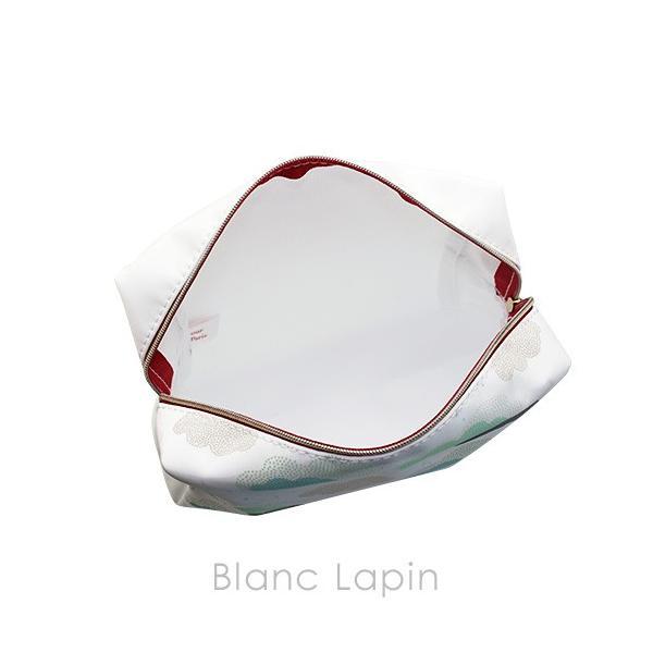 【ノベルティ】 クラランス CLARINS コスメポーチ #ホワイト [230062]【メール便可】