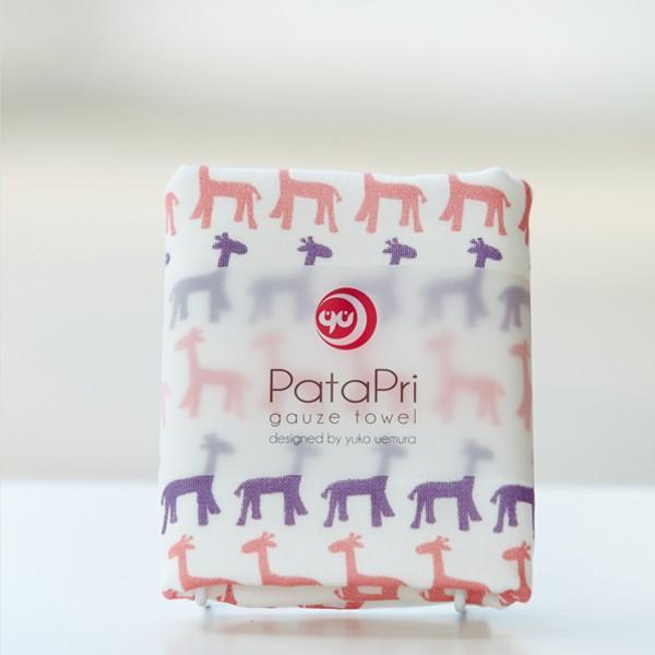 メール便 不可 キリン giraffe  ガーゼタオル gauze towel  Mango Art Company マンゴーアートカ ンパニーx PataPri デザイン blancoron