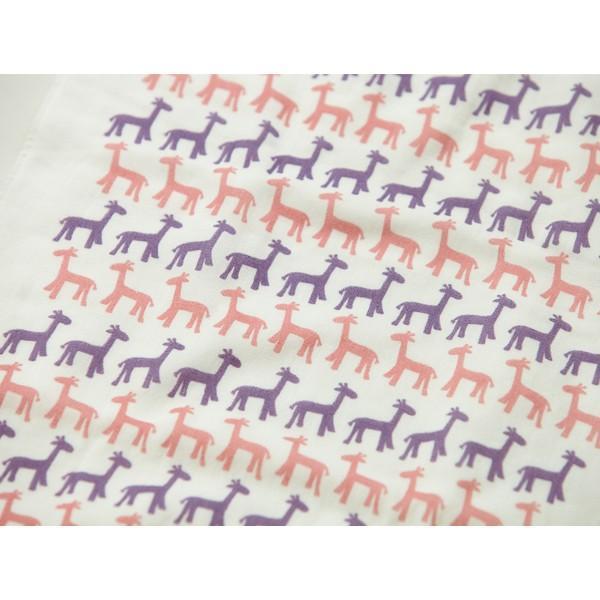 メール便 不可 キリン giraffe  ガーゼタオル gauze towel  Mango Art Company マンゴーアートカ ンパニーx PataPri デザイン blancoron 02
