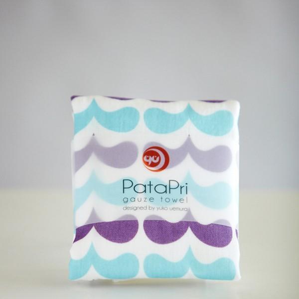 メール便 不可 波 wave  ガーゼタオル gauze towel  Mango Art Company マンゴーアートカンパニーx PataPri デザイン|blancoron