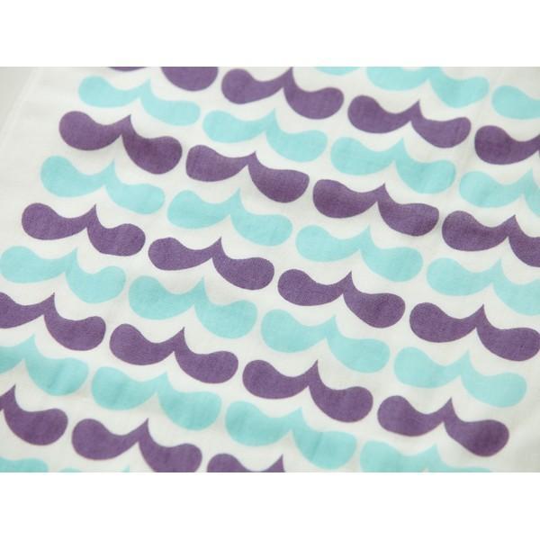 メール便 不可 波 wave  ガーゼタオル gauze towel  Mango Art Company マンゴーアートカンパニーx PataPri デザイン|blancoron|02