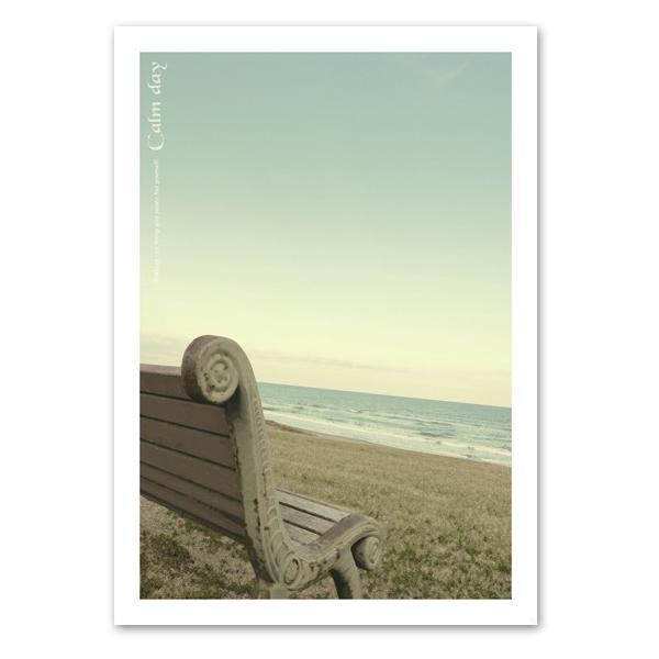 ポスター A3サイズ 『Calmday-b』 海 写真 自然 風景 おしゃれ Interior Art Poster blankwall