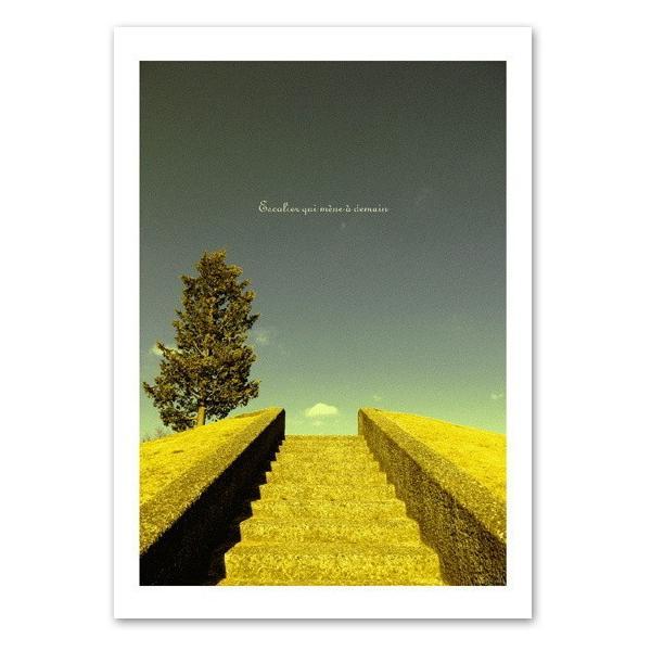 インテリアポスター A3サイズ 『Escalier』 フォト 風景,景色ポスター Interior Art Poster|blankwall
