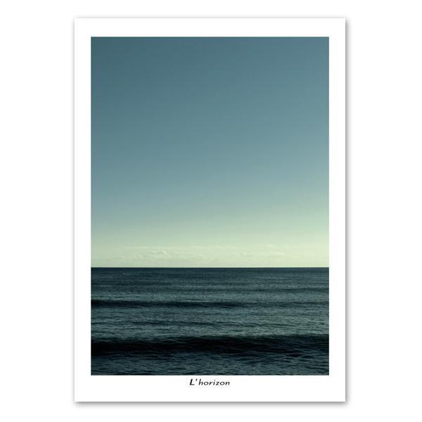 ポスター A2サイズ 『Horizon-c』 海 フォト 水平線 おしゃれポスター Interior Art Poster blankwall